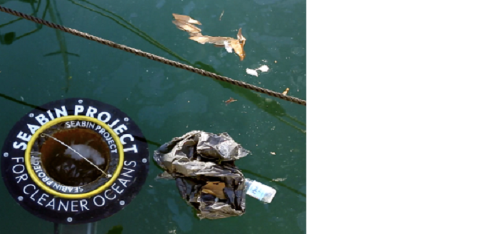 Seabin mangia rifiuti marino