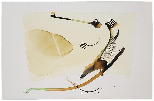BATO_Coccodrillo_tecnica mista sulla tela_100 x 150 cm
