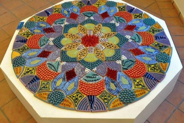clara garesio mandala rebirth rinascita ceramica