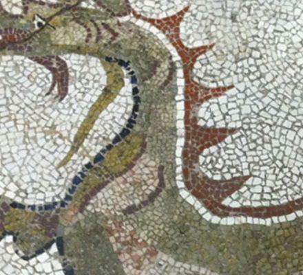 kaulon mosaico draghi delfini monasterace reggio calabria
