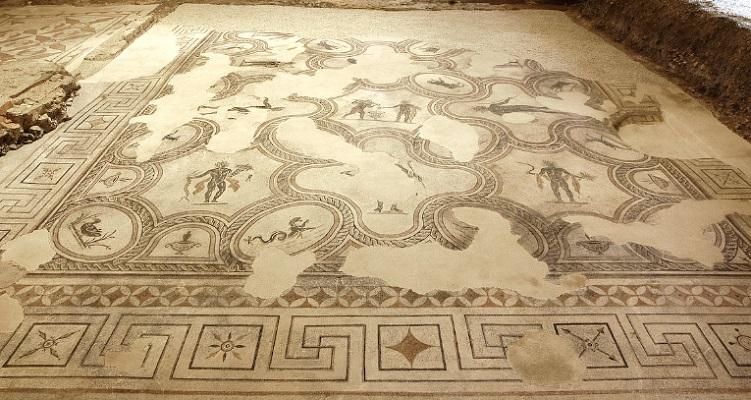 spello mosaici villa umbria