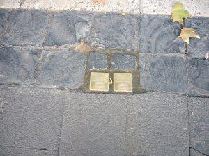 pietra inciampo pietre gunter demnig